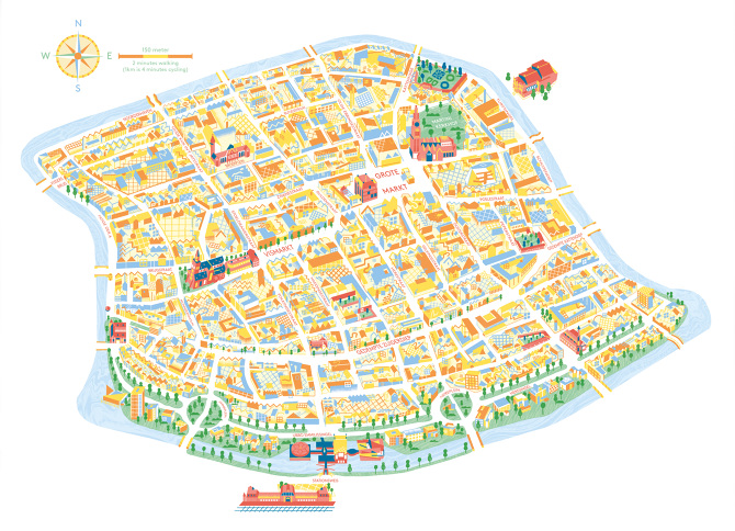 City Map Tsjisse Talsma Illustration